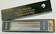 Springfield Palisades Indoor Outdoor Thermometer Boxed Instrument, New Complete