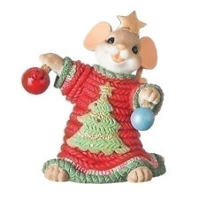Charming Tails Mouse That's One Tree-ific Ugly Christmas Sweater Figurine 131634