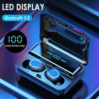 8D Bluetooth 5.0 Headset TWS Earphones Wireless Sports Earbuds Stereo Headphones