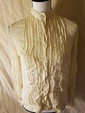Treacy Lowe Vintage 100% Silk Button Down Shirt Blouse Women Size 12