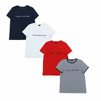 Tommy Hilfiger Womens T-Shirt Short Sleeve Cotton Top Casual Tee Flag Logo Nwt