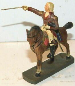 Old Germany Elastolin 1930s Composition, General George Washington Mounted