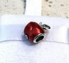Pandora Disney Snow White Apple Charm Red Enamel 791572EN73 +Pouch +Gift Package