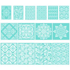 DIY Silk Screen Printing Stencil Floral Adhesive Mesh Transfer Wood Bag Craft