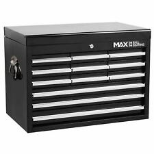 12 Drawer Tool Chest Black Metal Garage Tools Storage Box Cabinet Unit Hilka Pro