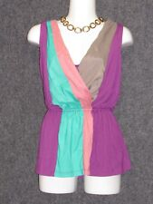 HYPE Colorful Sleveless Tank Top Blouse SZ S