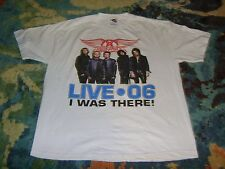 AEROSMITH 2006 Tour Shirt WHITE XL I WAS THERE Classic Rock STEVEN TYLER Perry