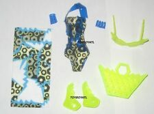 Monster High Swim Class Frankie Stein Outfit ONLY SwimSuit & Shoes NEW Justice