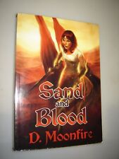 Sand and Blood by D. Moonfire (English) Paperback Book Signed Autographed