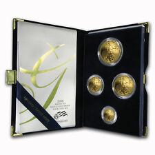 2008-W 4-Coin Proof Gold American Eagle Set (w/Box & COA)