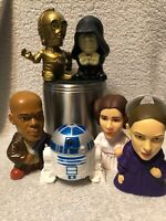 Star Wars 2005 Burger King Lot of 6 R2D2, Leia, Emporer, C3PO, and more
