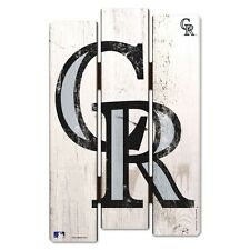 "COLORADO ROCKIES FENCE WOOD SIGN 11""X17'' BRAND NEW FREE SHIPPING WINCRAFT"
