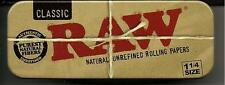 RAW ROLL CADDY CIGARETTE ROLLING PAPERS 1 1/4  METAL TIN CASE