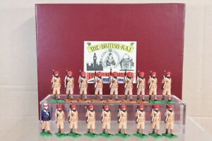 TROPHY MINIATURES The INDIAN ARMY indian ARTILLERY OFFICER & SEPOYS MARCHING pjm