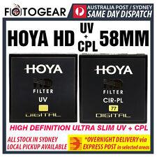 Genuine HOYA HD High Density High Definition UV + CPL  Camera Lens Filter 58mm