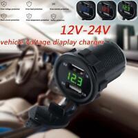 5V 4.2A Dual 2USB Charger Socket Adapter Power Outlet For 12V 24V Car Motorcycle
