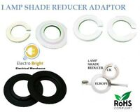 Lamp Shade Adaptor Reducer Ring Converts Euro Shade Size To UK Fitting