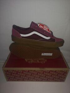 Brand New Men's Vans Style 36 Gum Beet Red / Port Royale UK Size 10.5