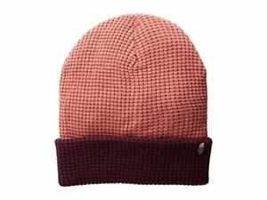 NWT THE NORTH FACE WAFFLE BEANIE $28 O/S Faded Rose/ Fig Acrylic Knit snowboard