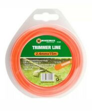 15M STRONG STRIMMER LINE 2.4MM ELECTRIC CORD WIRE GARDEN GRASS TRIMMER NEW.