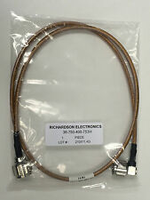 RF Coaxial Cable, 50ohm, Type N Straight & Right Angle Plugs, 3ft lg, NEW
