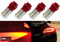 x2 3157 4057 7W  LED Super Red Fit Replace Brake Tail Light Bulbs Lamps F824