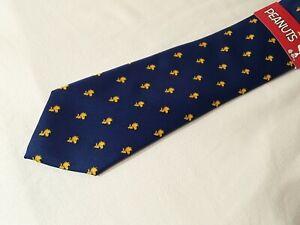 Peanuts Men's Woodstock Bird Navy Necktie NWT