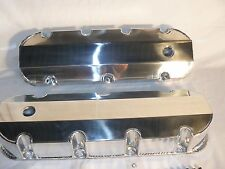 BBC BIG BLOCK CHEVY 427 454 496  FABRICATED TALL VALVE COVERS CLEAR ANOSIZED