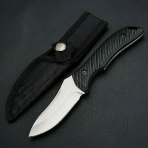 Drop Point Knife Fixed Blade Hunting Wild Tactical Combat Military Survival  Cut