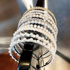 Women Big Pearl Headband Girls Crystal Hairband Hair Hoop Accessories #w IjPgR