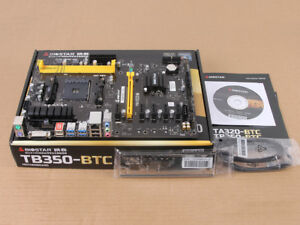 NEW Original BIOSTAR TB350-BTC AMD B350 Socket AM4 Motherboard USB 3.1 DDR4