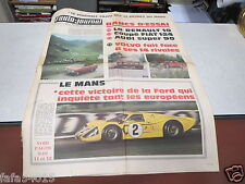 L AUTO JOURNAL N° 431 22 juin 1967 RENAULT 10 COUPE FIAT 124 AUDI SUPER FORD  *