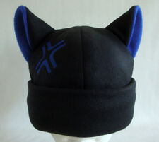ANGRY kitty CAT ear HAT beanie BLACK & BLUE anime cosplay gift Easter basket