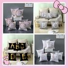 Uk  4 Colours Letter Polyester Cushion Cover Pillow Case Waist  Home Sofa Decor