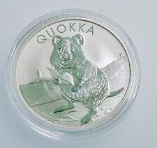 RARE 2020 p  Australian Quokka 1 oz .9999 Silver BU  Round in Cap Perth Mint
