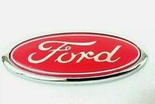 Ford Transit Connect Mondeo Fiesta 115mm x 45mm badge (Red)
