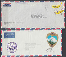 Tonga Sc 225 (2), 437, C173 on 3 Business Size Air Mail Covers