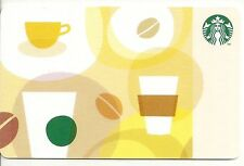 Starbucks Coffee Beige Cups Mugs Beans Collage 2012 Gift Card Collectible