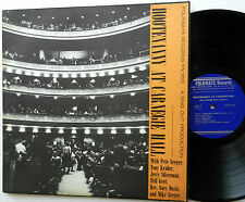 Hootenanny AT CARNEGIE HALL LP PETE SEEGER Tony Kraber Jerry Silverman