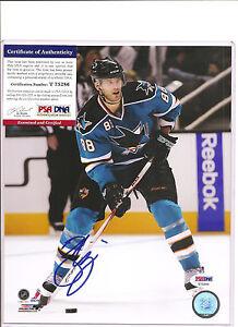 Brent Burns Signed SJ San Jose Sharks 8x10 Photo PSA DNA COA Autographed a