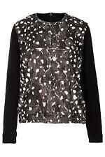 NWT TOPSHOP US PRINTED FUR SWEAT BY BOUTIQUE (US 4/ UK 8/ EUR 36) SOFT - RARE!!!