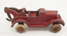 Vintage Cast Iron Hubley Open Air Wrecker Tow Truck