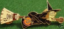 Hard Rock Cafe JAKARTA 2000 HALLOWEEN PIN Witch Riding GUITAR HRC Catalog #3800