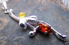 Sterling Silver & Baltic Amber Designer Pendant EPD0479