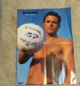 1990s KENT STEFFES Poster AVP Beach Volleyball FIVB Karch Kiraly Rare