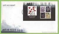 G.B. 2006 Lest We Forget m/s on u/a Royal Mail First Day Cover London SW1