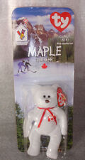 TY BEANIE BABY CANADA MAPLE BEAR MINT IN PACKAGE~MCDONALD'S~1999~SKI~EXCELLENT~~