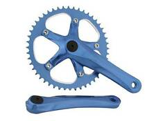 BICYCLE BLUE CRANK SET 48T X 170MM CRUISER LOWRIDER BMX MTB ROAD FIXIE CYCLING