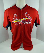 2014-15 St. Louis Cardinals Blank # Game Issued Red Jersey BP 46 STLC0476