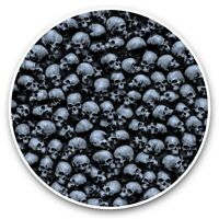 2 x Vinyl Stickers 30cm - Human Skulls Goth Emo Death  #45373